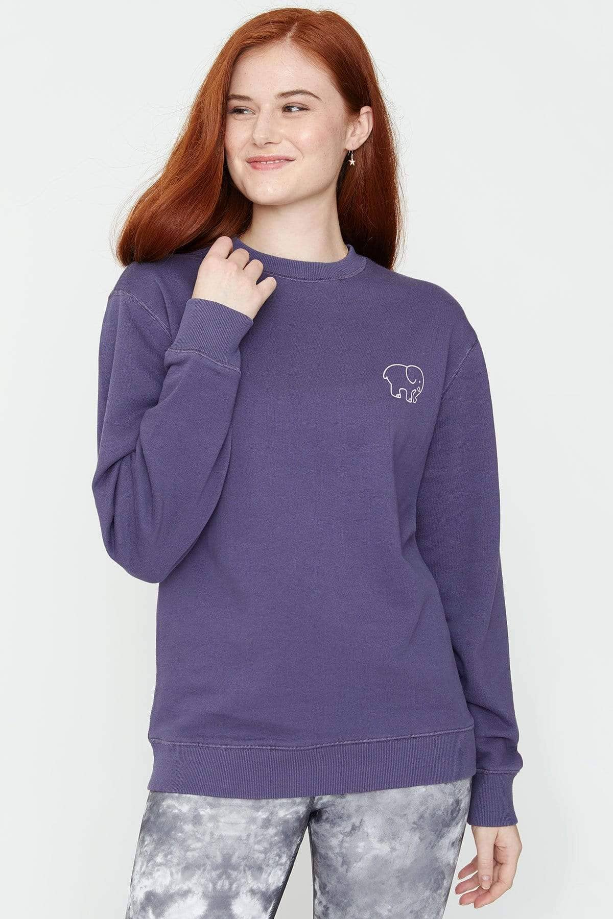 Graystone Washed Crew - Ivory Ella - Women's Sweatshirts