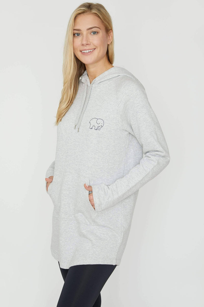Heather Grey Tunic - Ivory Ella - Women's Sweatshirts