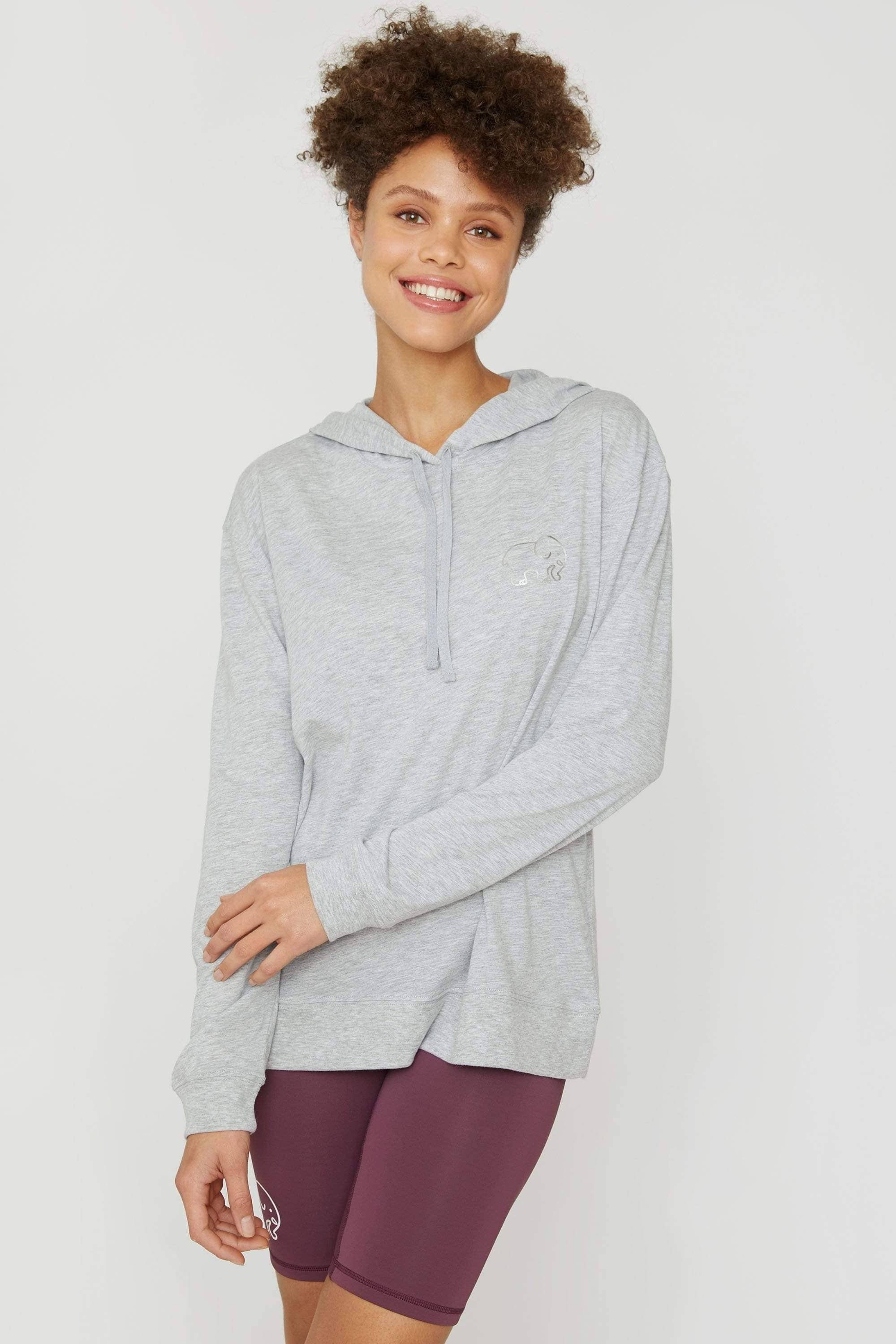 Ivory Ella Women's Sweatshirts Light Heather Grey Tshirt Hoodie