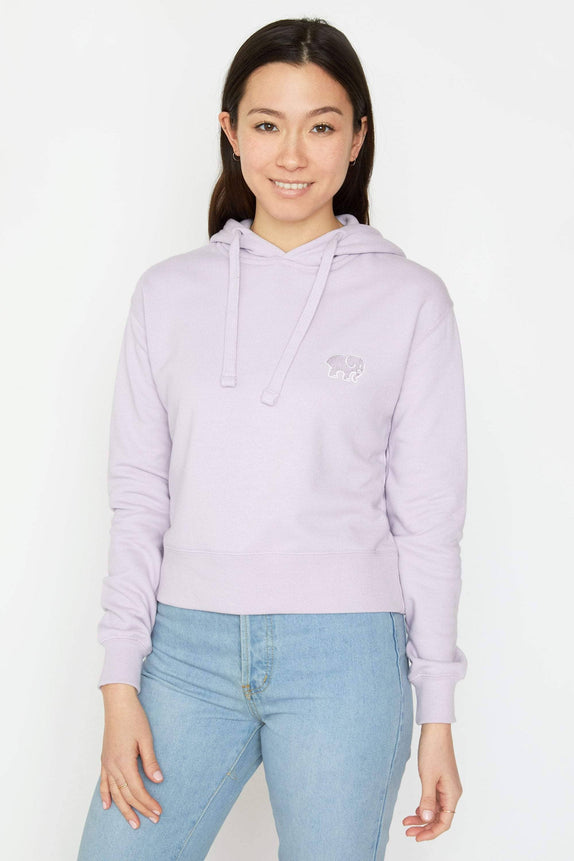 Amethyst Organic French Terry Cropped Hoodie