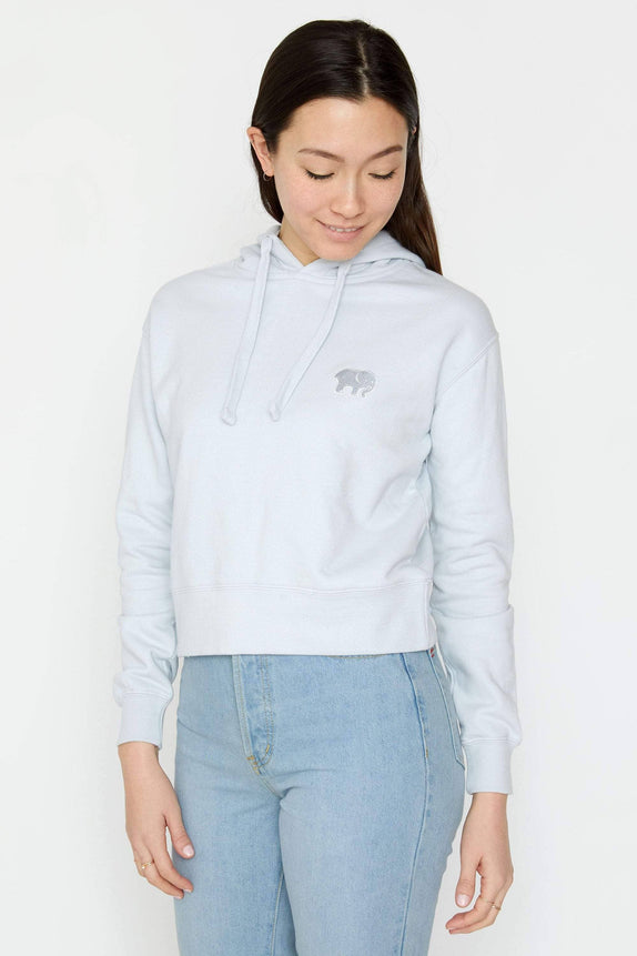 Moonstone Organic French Terry Cropped Hoodie