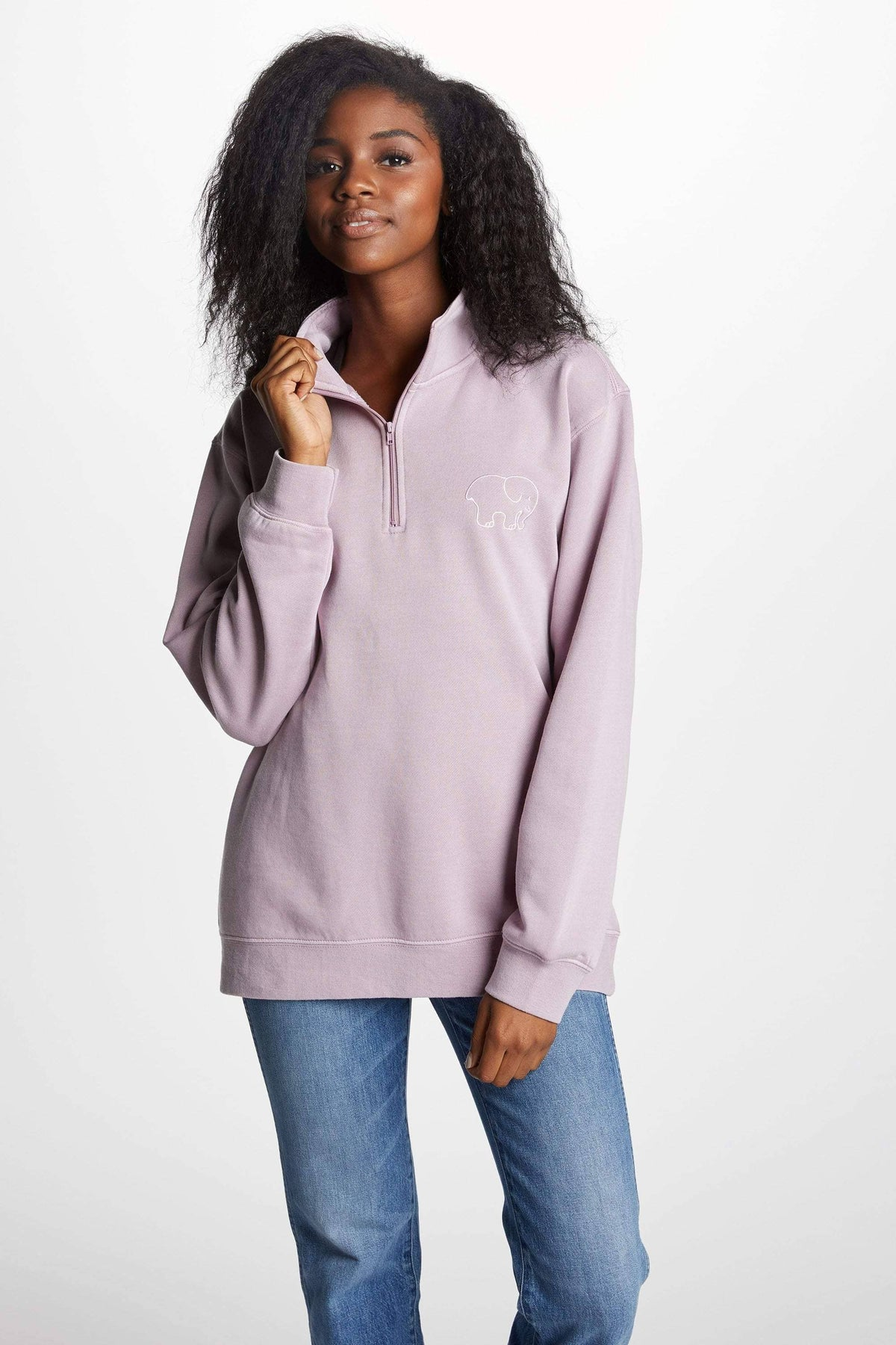 Ivory Ella Women's Sweatshirts XS Nightshade Quarter Zip Sweatshirt