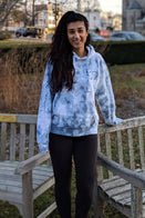 Ivory Ella Women's Sweatshirts XS Oversized Dream Blue Tie Dye Hoodie