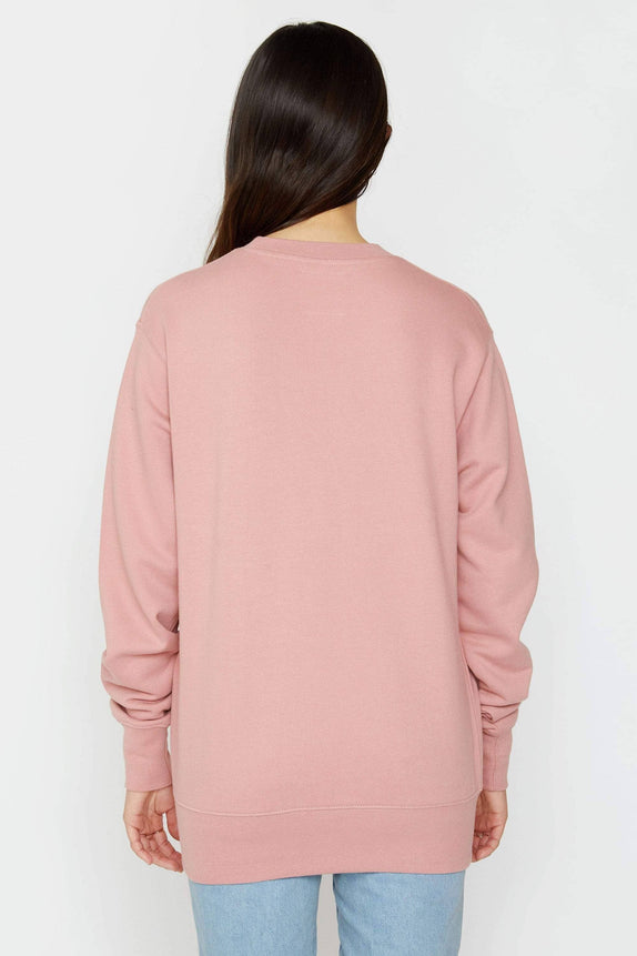 Rose Quartz Organic Crewneck Sweatshirt