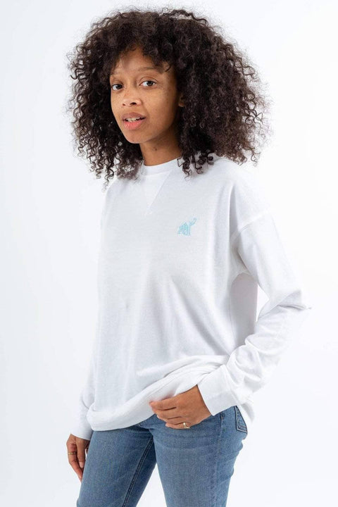 b1550c4c0 Ivory Ella Women s Sweatshirts XS White Save the Elephants Crew Sweatshirt