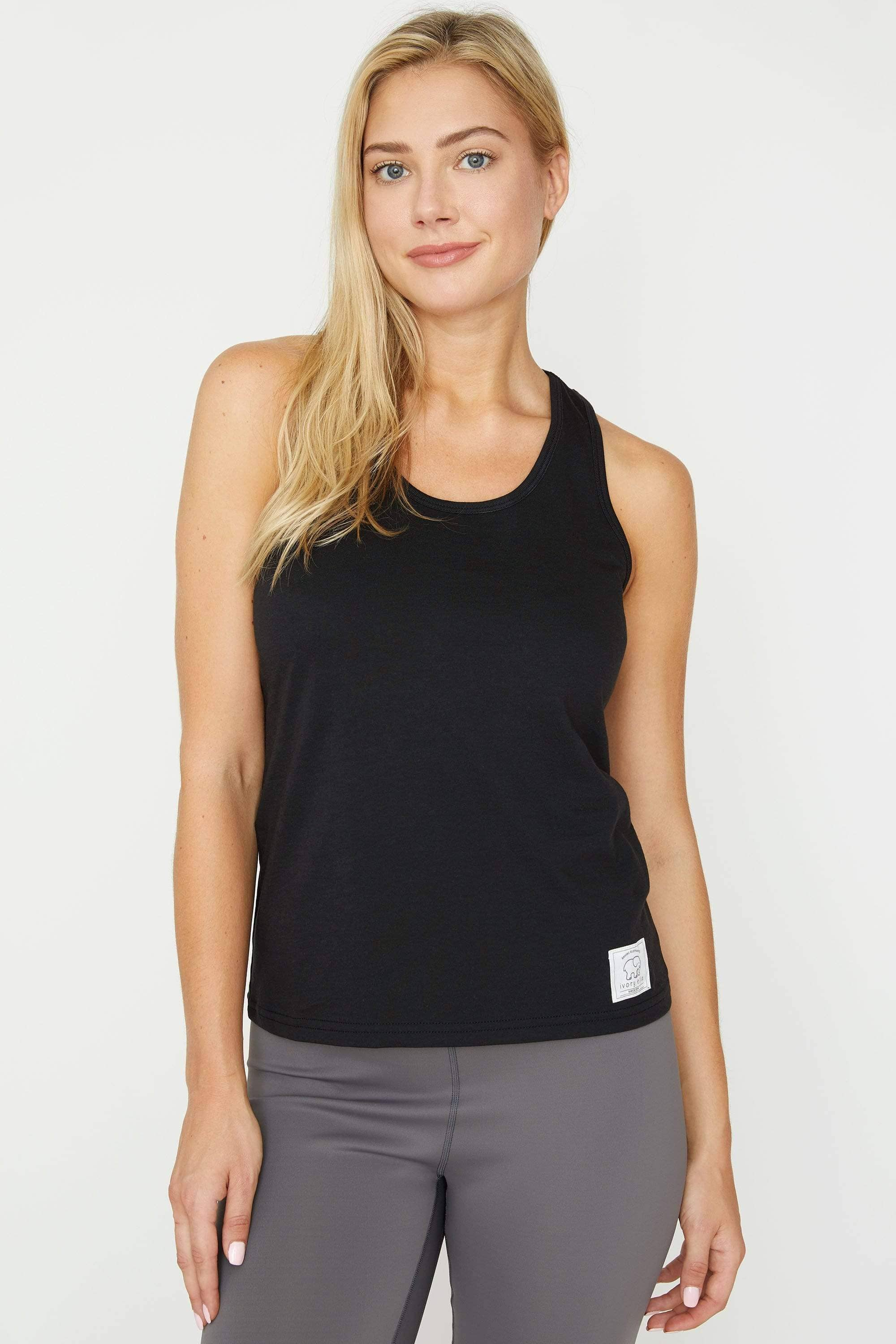 Black Essential Tank - Ivory Ella - Women's Tanks