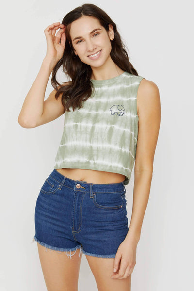 Lily Pad Tie Dyed Cropped Tank