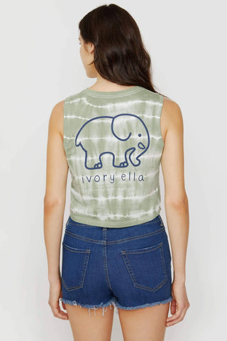 Ivory Ella Women's Tanks XS Lily Pad Tie Dyed Cropped Tank