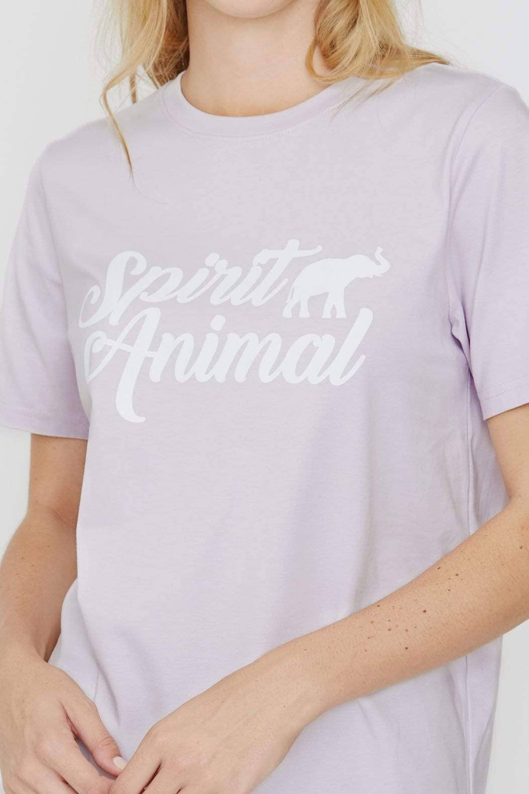 Ivory Ella XS Ella Fit Amethyst Spirit Animal Tee