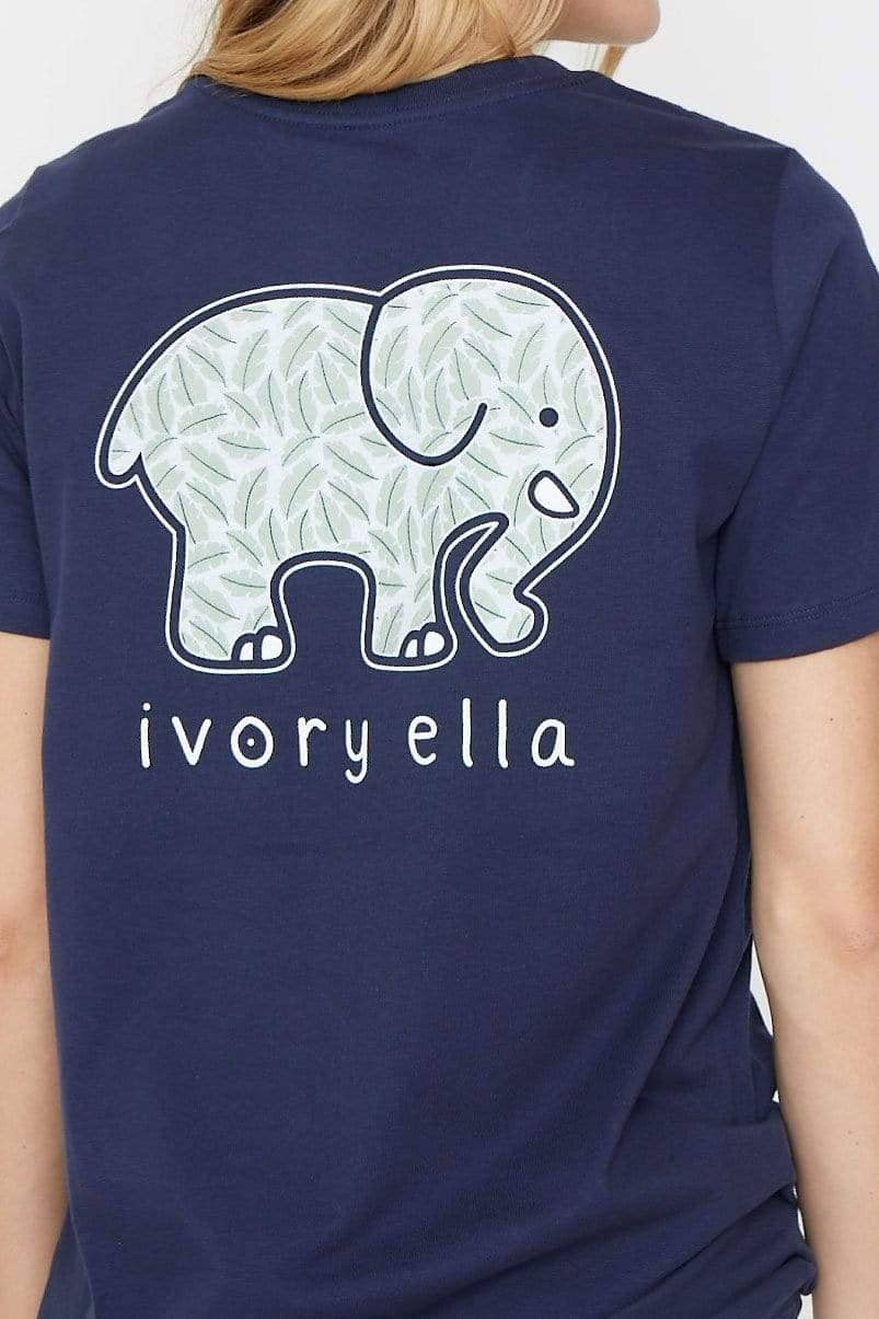 Ivory Ella XS Ella Fit Dark Navy Folium Tee