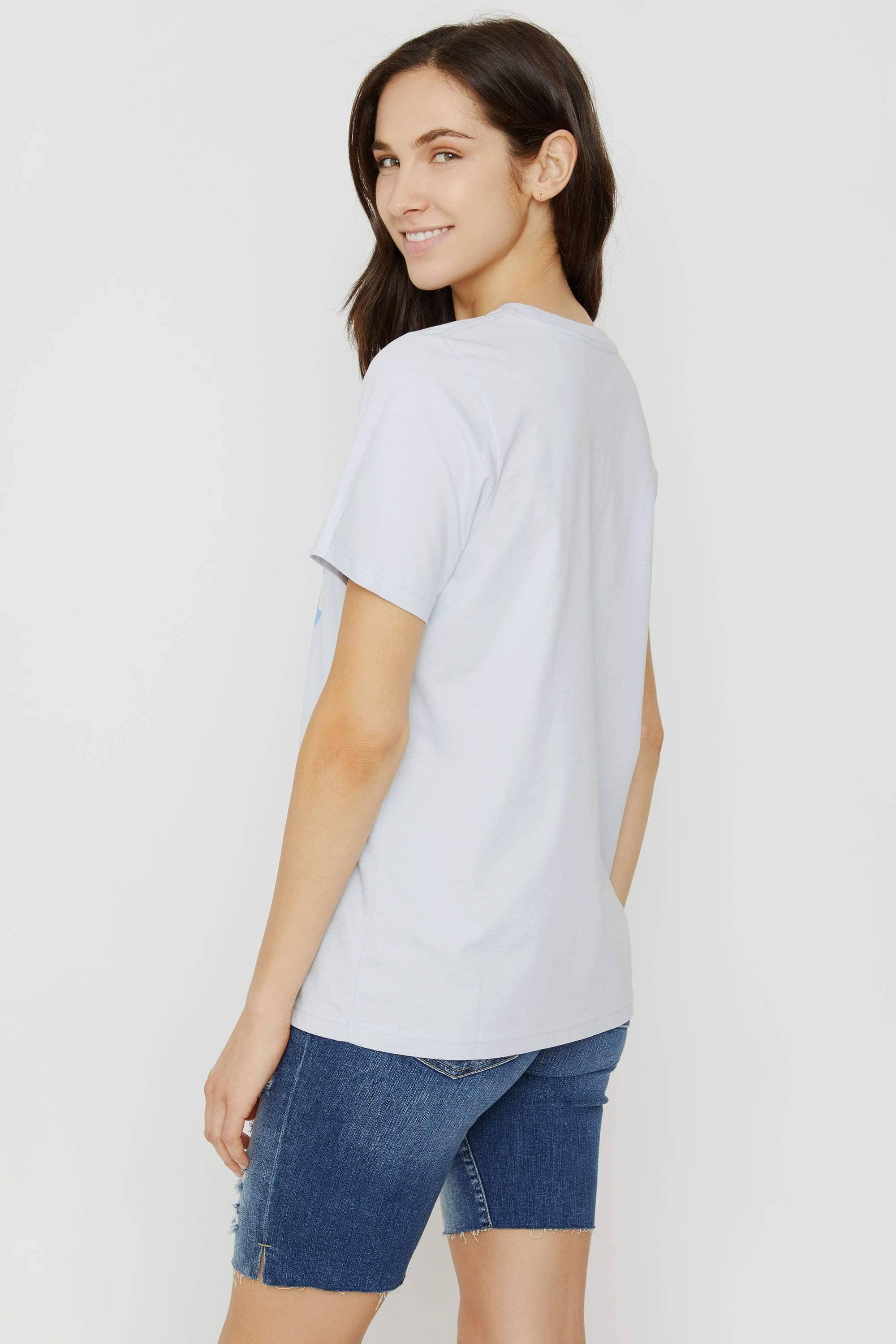 Ella Fit Moonstone Blue Here Comes The Sun Tee - Ivory Ella - Women's Short Sleeve Tees