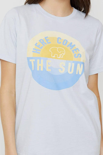 Ella Fit Moonstone Blue Here Comes The Sun Tee
