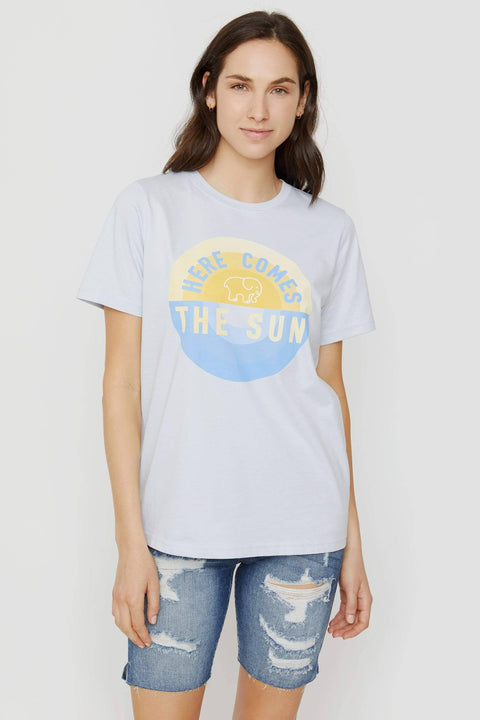 Ivory Ella XS Ella Fit Moonstone Blue Here Comes The Sun Tee