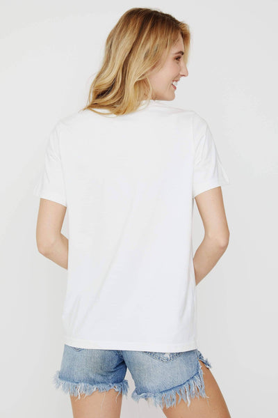 Ella Fit Soft White Travel Itinerary Tee