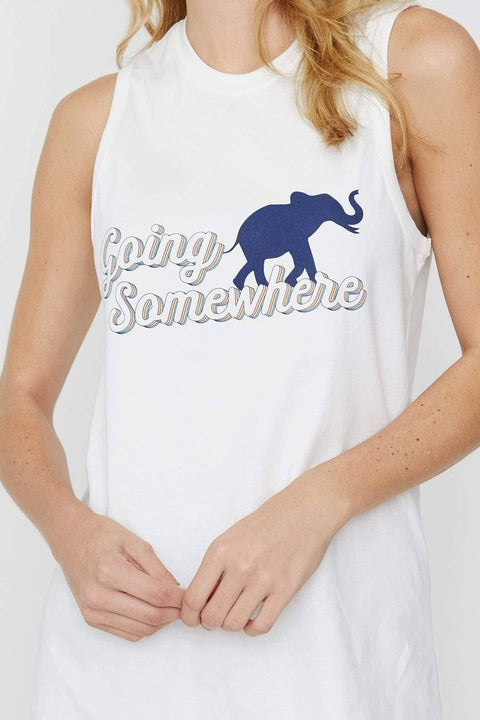 Ivory Ella XXS Soft White Going Somewhere Tank