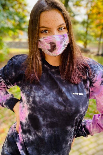 Orchid Tie Dye Oversized Long Sleeve T-Shirt