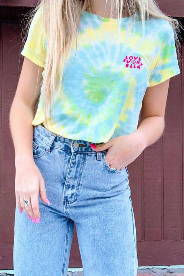Ocean Wave Tie Dye Slim T-shirt