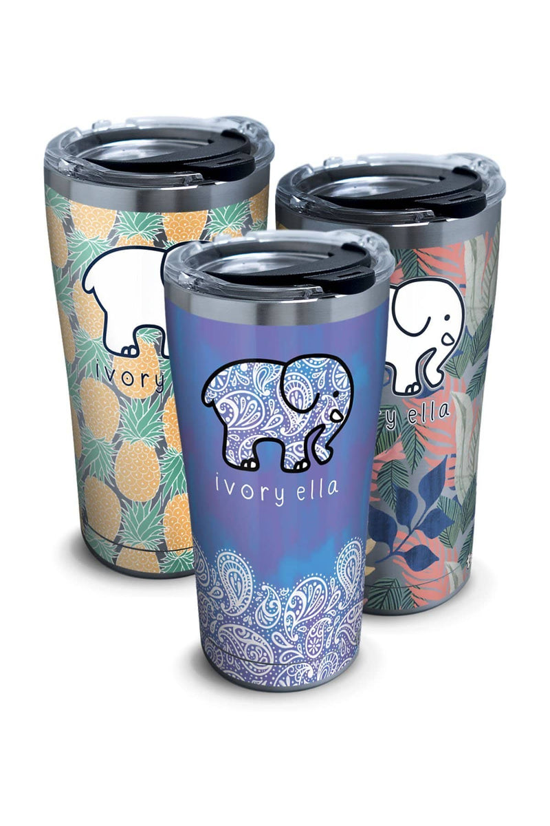 Stainless Steel Tervis Frosted Paisley 20oz Tumbler - Ivory Ella - Drinkware