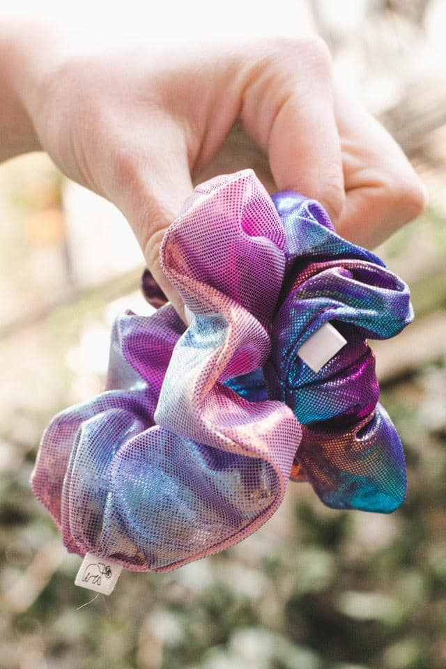 Metallic Tie Dye 2-pack Scrunchies