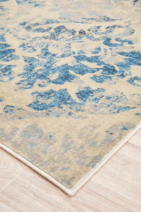 Beauvais Faded Bone & Blue Rug