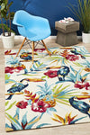 Toucan Tropical Indoor Outdoor Rug Cream
