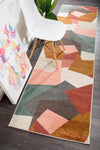 Divinity Fragments Blush Modern Runner Rug