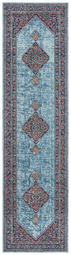 Whisper Diamond Blue Rug Runner