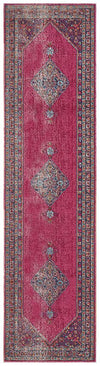 Whisper Diamond Pink Rug Runner