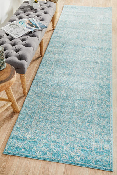 Depth Blue Transitional Runner Rug