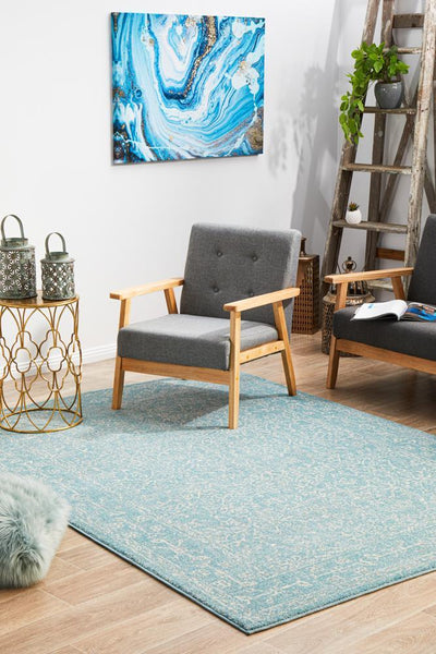 Depth Blue Transitional Rug