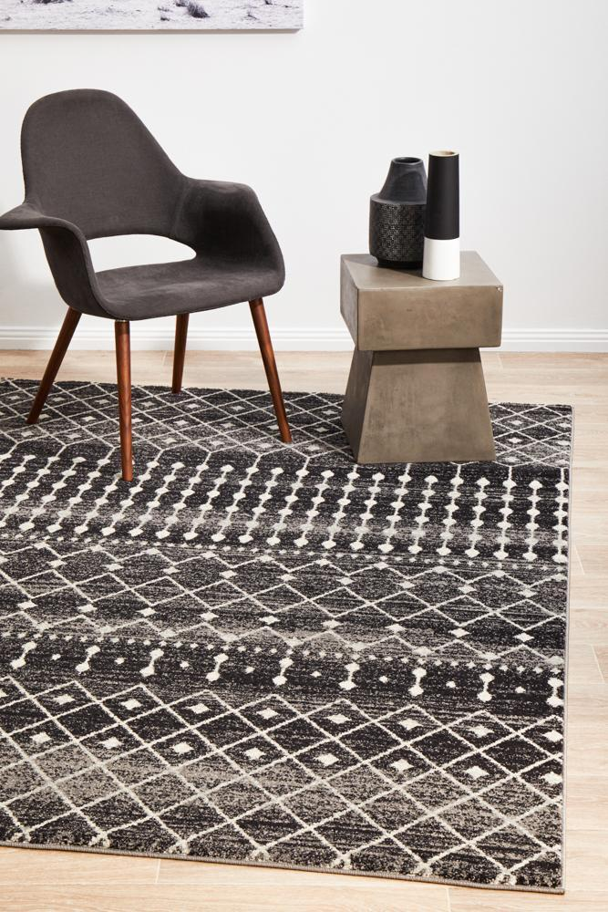 Simplicity Black Transitional Rug  - Rug Emporium - 6