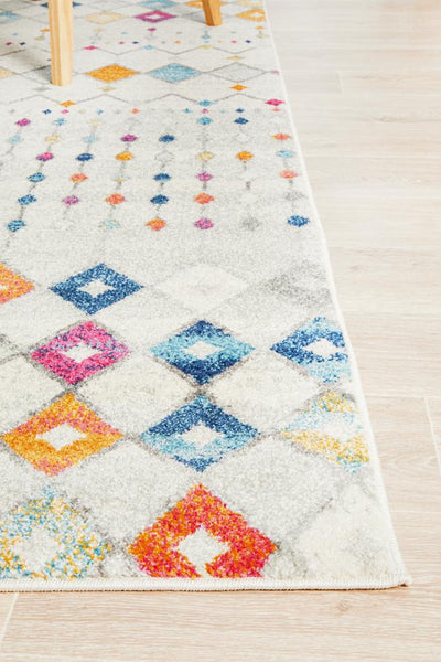 Tampere Multicolour Transitional Round Rug