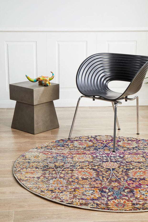 Zolan Transitional Multi Round Rug (11018425159)