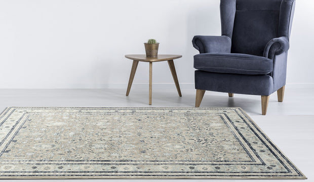 Esquire Rim Traditional Beige Rug
