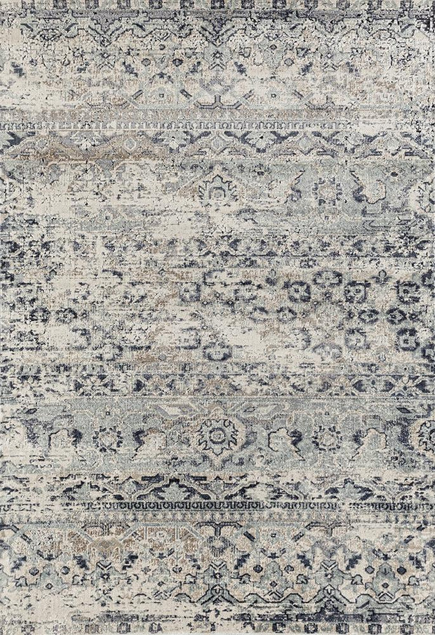 Esquire Segments Traditional Blue Rug