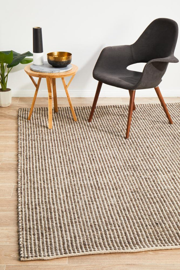 Carlos Felted Wool Rug Brown Natural (8815095623)