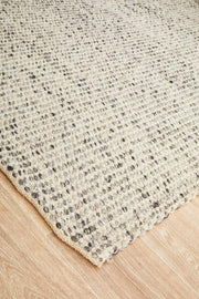 Carlos Felted Wool Floor Grey Rug