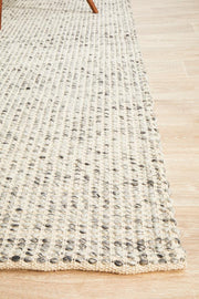 Carlos Felted Wool Floor Grey Rug (8815111559)