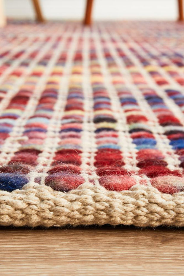 Carlos Felted Wool Rug Multi Natural (8815131143)
