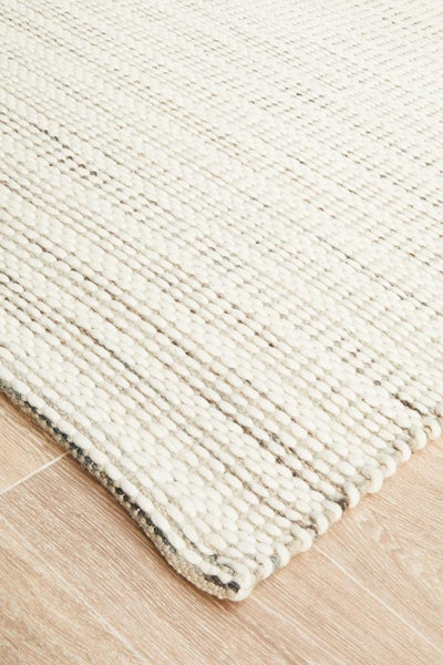 Hand Braided Silver Felted Wool Rug