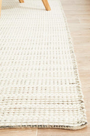 Hand Braided Silver Felted Wool Rug (8815925255)