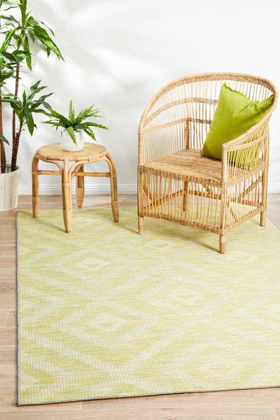 Terrace Cain Rug Lime Green
