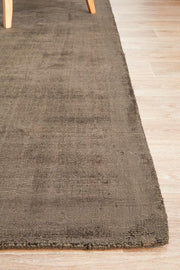 Distressed Chocolate Brown Viscose Rug (3926662343)
