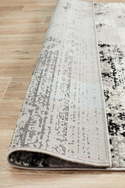 Alicia Modern Distressed Rug Grey Black Silver-Modern-Rug Culture-Rug Emporium (1417098952755)