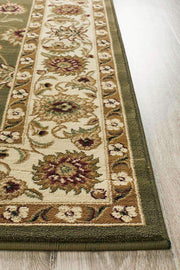 Classic Rug Green With Ivory Border-Traditional-Rug Culture-Rug Emporium (617899589683)