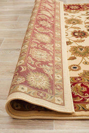 Classic Rug Ivory With Red Border-Traditional-Rug Culture-Rug Emporium
