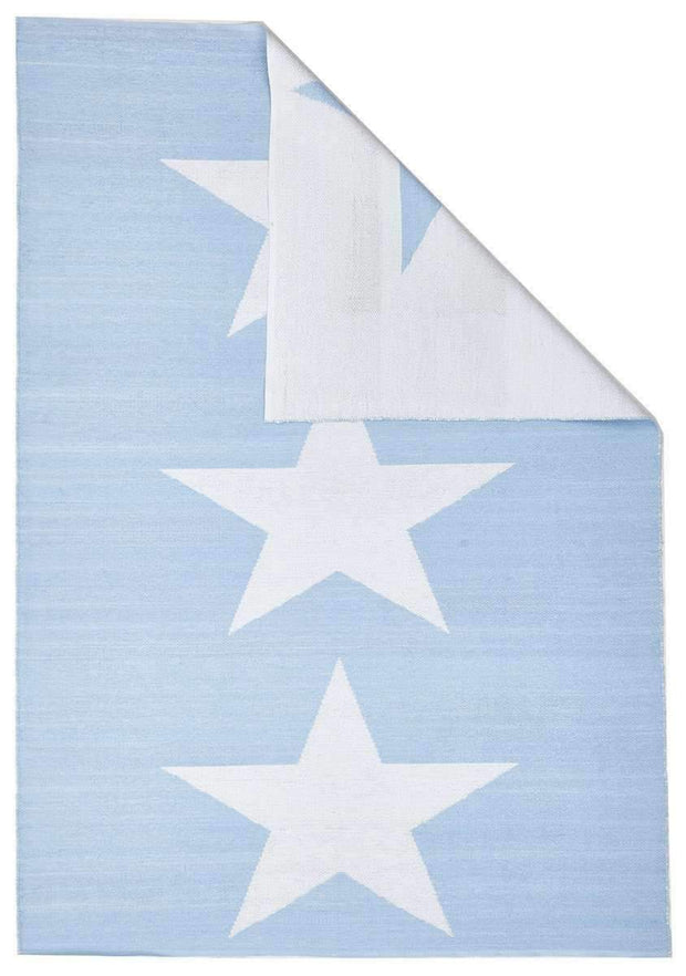 Coastal Indoor Out Door Rug Star Sky Blue White-Outdoor-Rug Culture-Rug Emporium (617878126643)