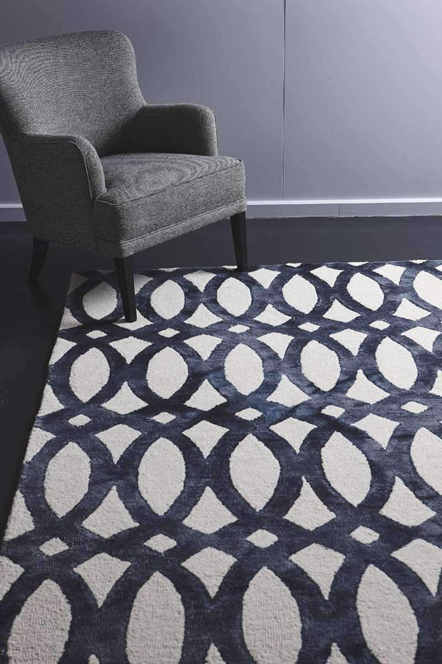 Dip Dye Handspun Natural Wool Charcoal Rug-Modern-Colorscope by Cadry's-Rug Emporium (502900523059)