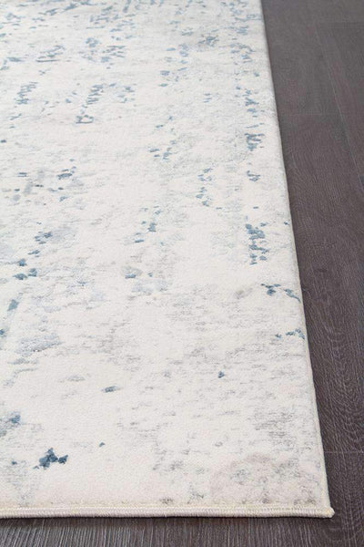 Farah Distressed Contemporary Rug White Blue Grey-Modern-Rug Culture-Rug Emporium