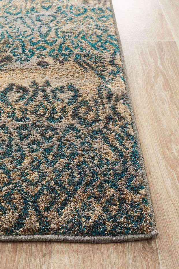Hanna Lace Rug Blue Natural-Modern-Rug Culture-Rug Emporium